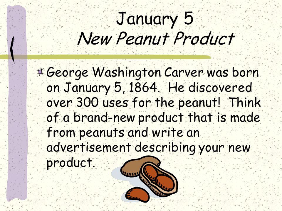 January 5 New Peanut Product
