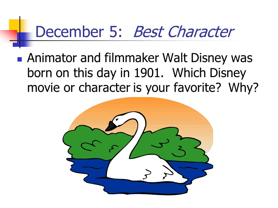 December 5: Best Character