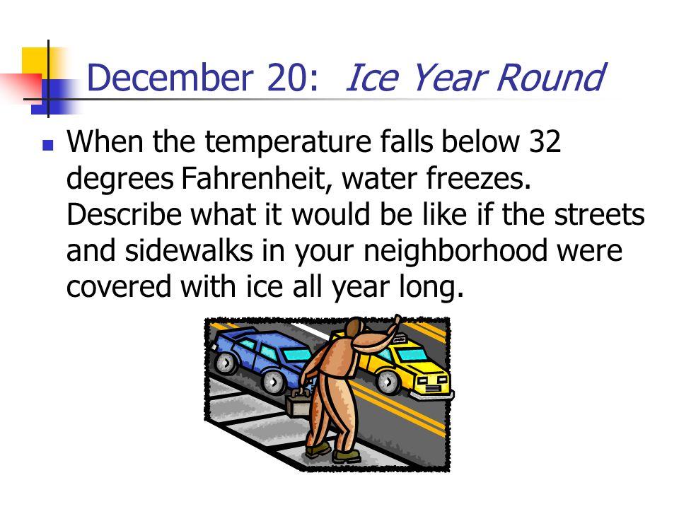 December 20: Ice Year Round