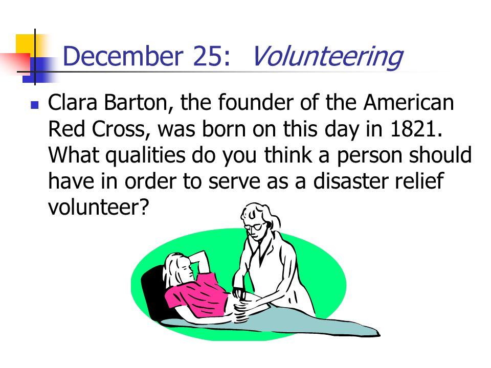 December 25: Volunteering