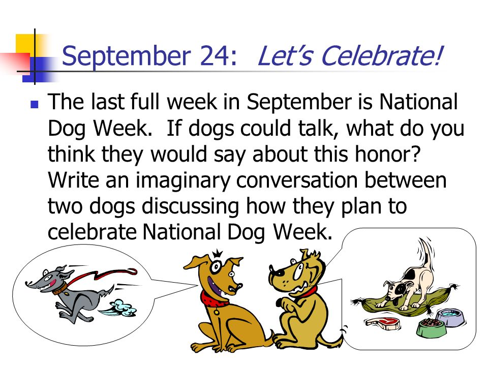 September 24: Let's Celebrate!