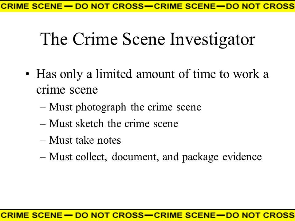 The Crime Scene Investigator