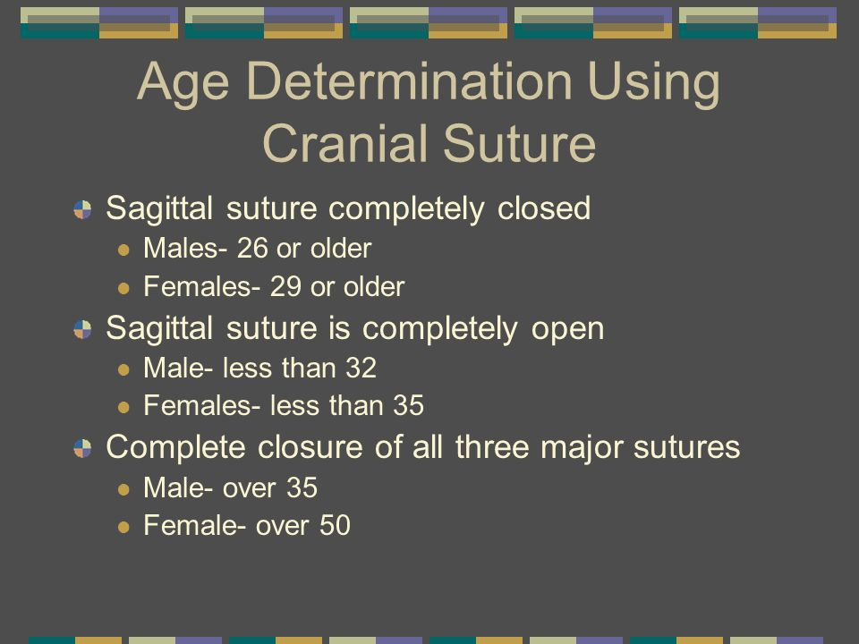 Age Determination Using Cranial Suture