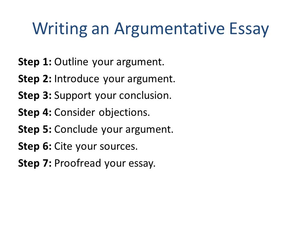 How to write an argumentative essay step by step ppt
