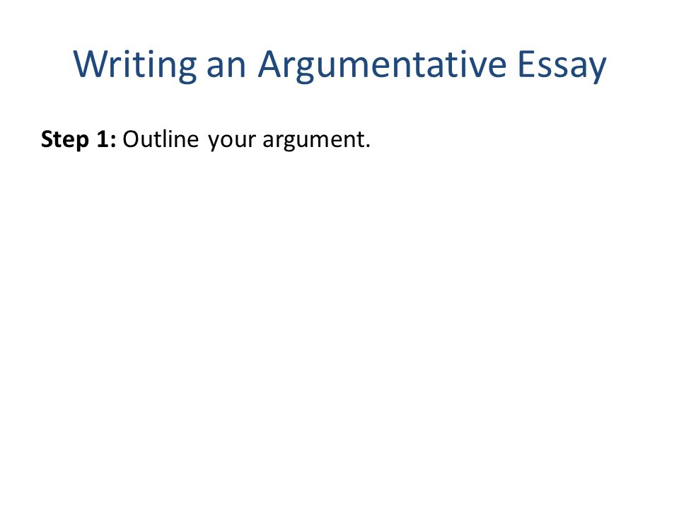 constructing argumentative essay 1 construct your arguments: to develop your thesis, you will need to construct a series of smaller supporting arguments that are relevant to the thesis.