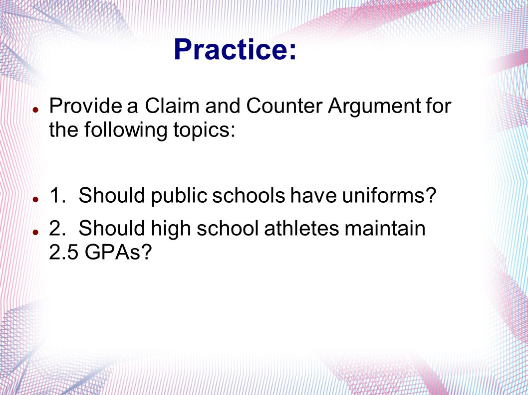 argumentative essay on uniforms in public schools Choose from the best 700 argumentative and persuasive essay topics 200+ unique and argumentative essay topics from homeschooling vs public schools.