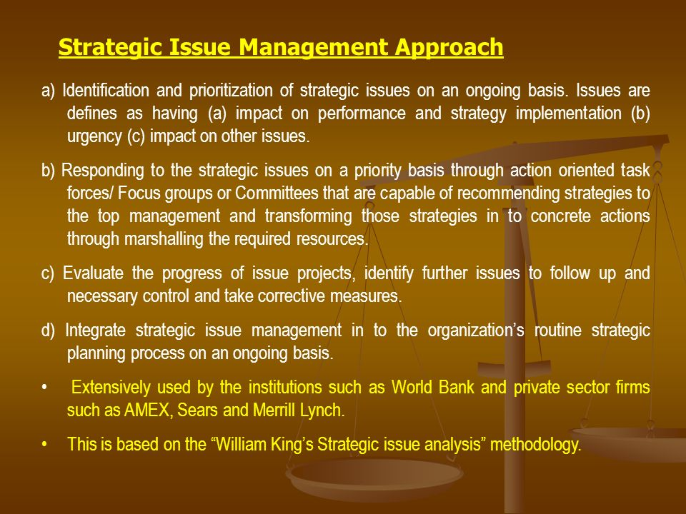 strategic issue management Foundation for strategic issues exercise strategic management model strategy strategic management model strategic management model.