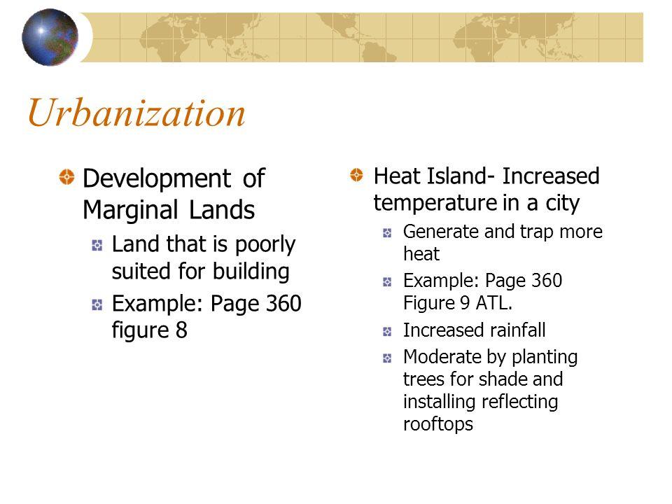 Urbanization Development of Marginal Lands