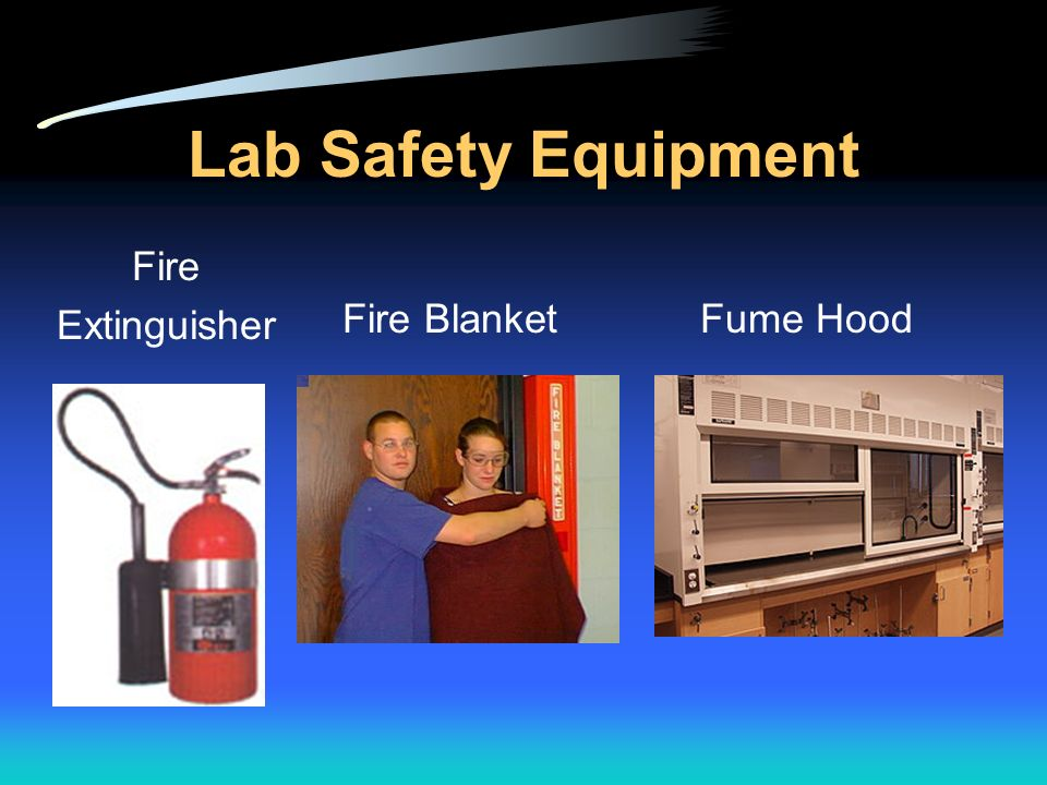 Lab Safety Equipment Fire Extinguisher Fire Blanket Fume Hood