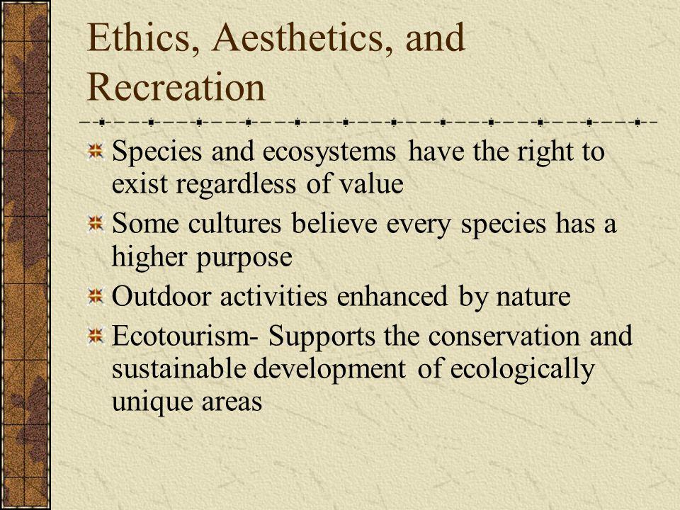 Ethics, Aesthetics, and Recreation