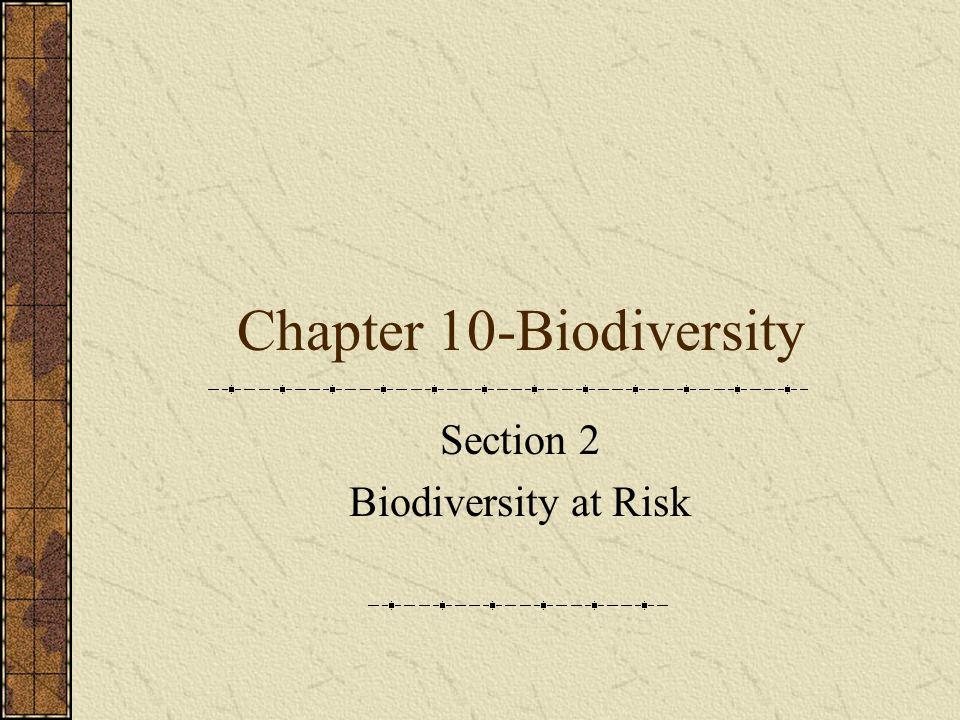 Chapter 10-Biodiversity