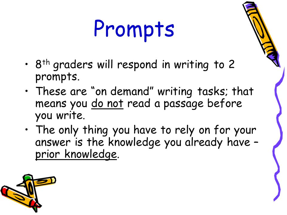 8th grade essay prompts