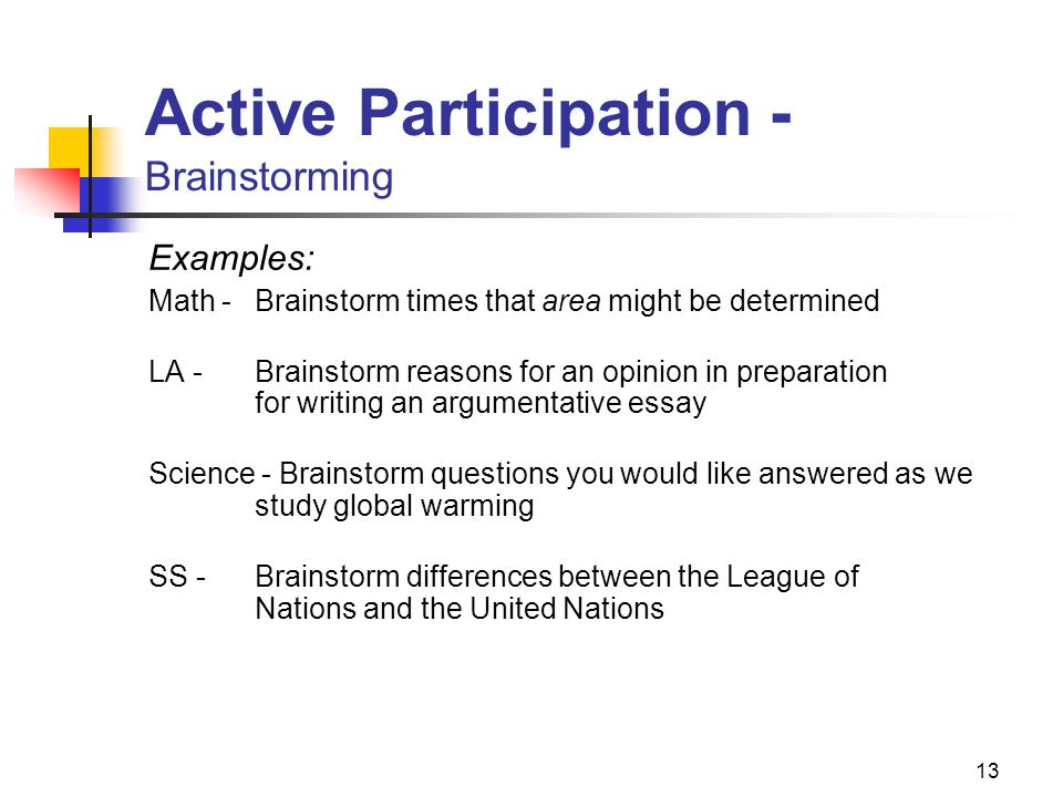 Getting Them All Engaged  Ppt Download  Active Participation  Brainstorming