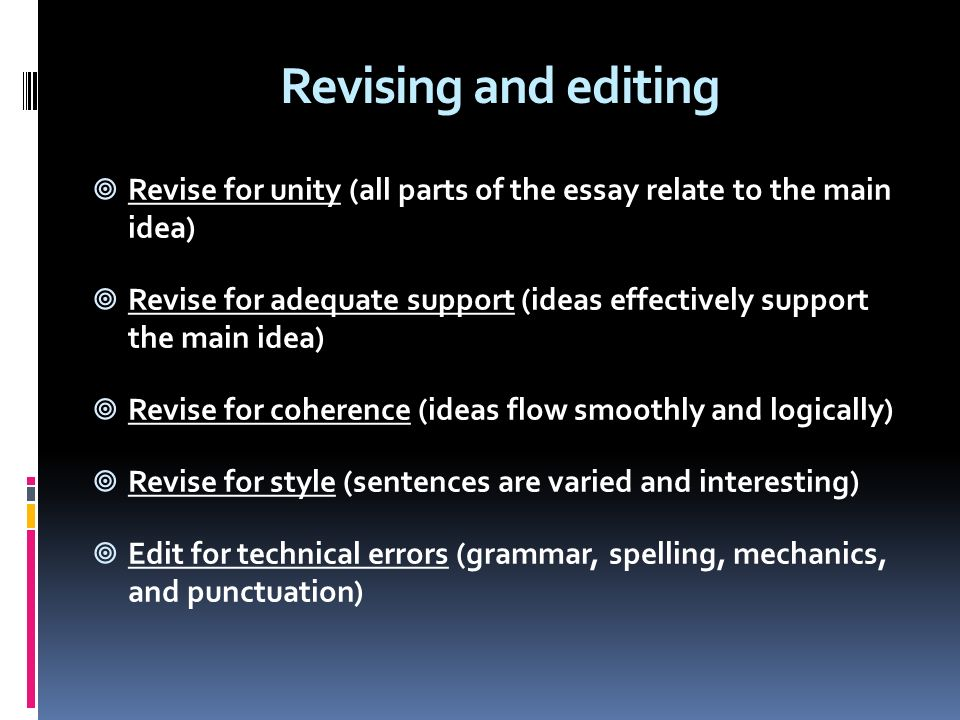 how to support ideas in an essay