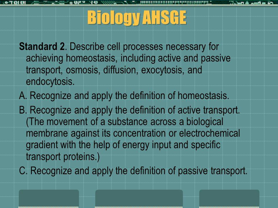 Biology AHSGE