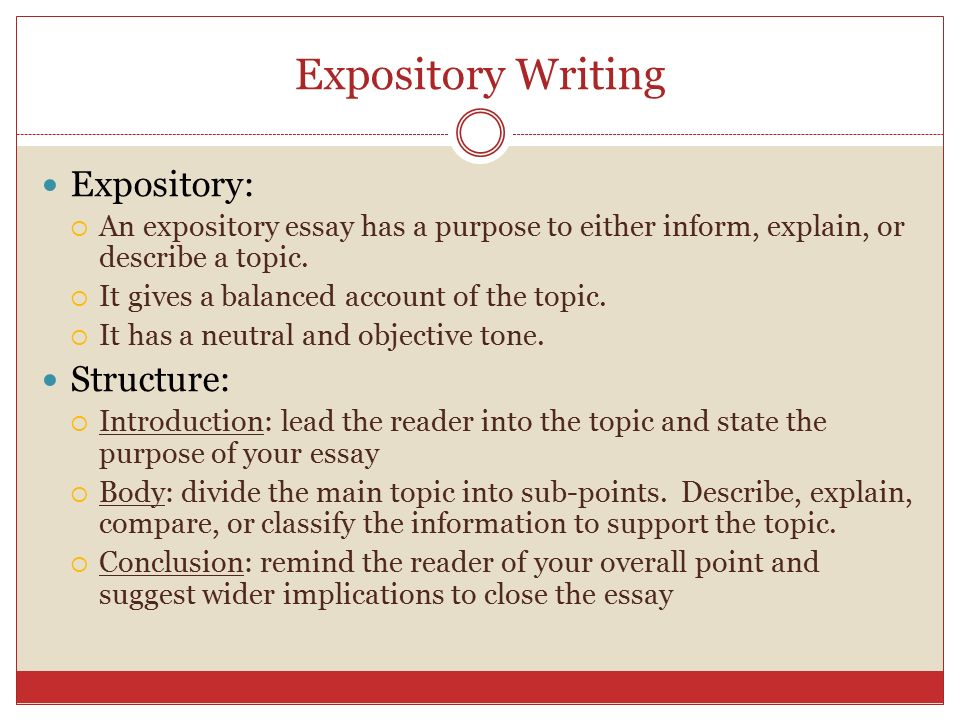 powerpoint on how to write an expository essay Find helpful tips on how to write an a-grade expository essay following the guidelines learn more about the proper structure of this essay type.