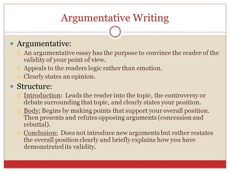 argumentative essay concession This point, the controlling idea, becomes the core of your argument (thesis  to  the allies when he couldn't get some concessions that he wanted from the axis.