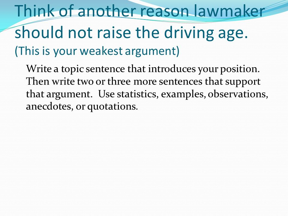 why the driving age should be raised essay Need to raise the driving age essay writing service, custom need to raise the driving age papers, term papers, free need to raise the driving age samples, research papers, help.