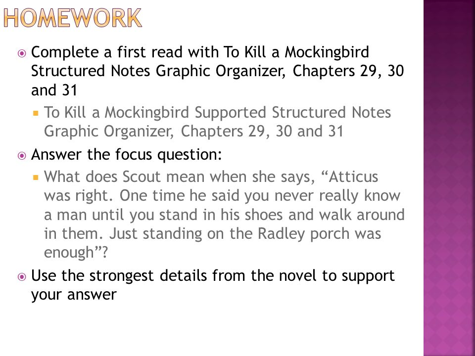 to kill a mockingbird study questions for 23 31 How to kill a mockingbird ch questions how to read a short story how to kill a mockingbird chapter 31 1 how do the events of.