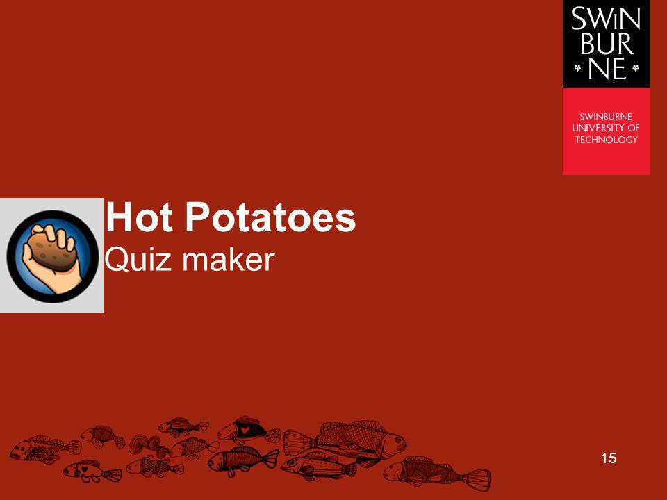 Hot Potatoes Quiz maker