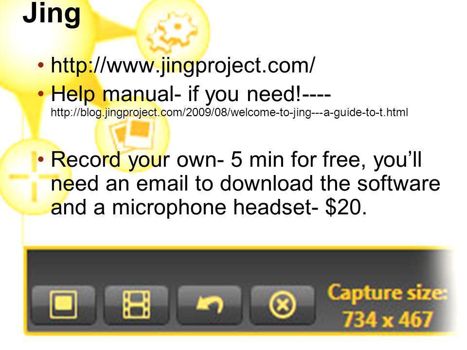 Jing http://www.jingproject.com/