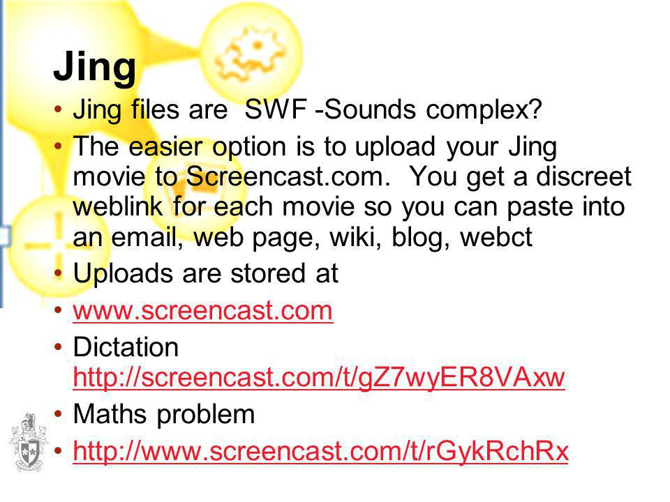 Jing Jing files are SWF -Sounds complex
