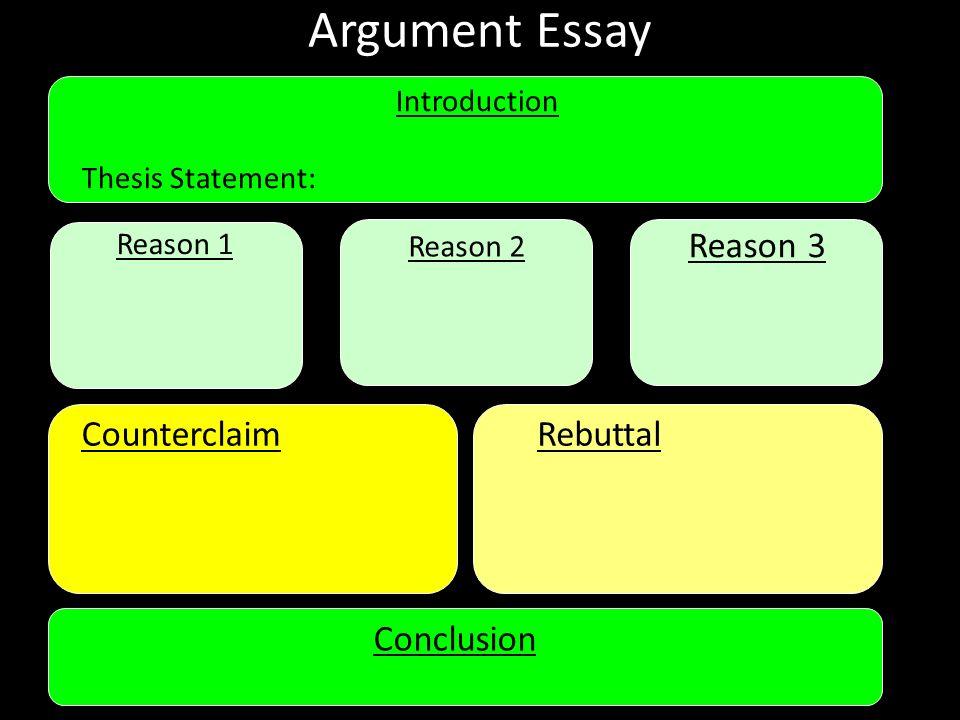 Argumentative essay rebuttal