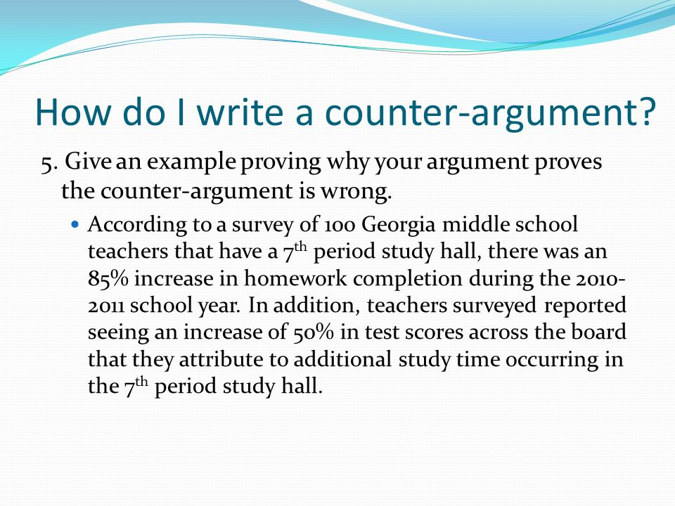 How to write a counter arguement for essays