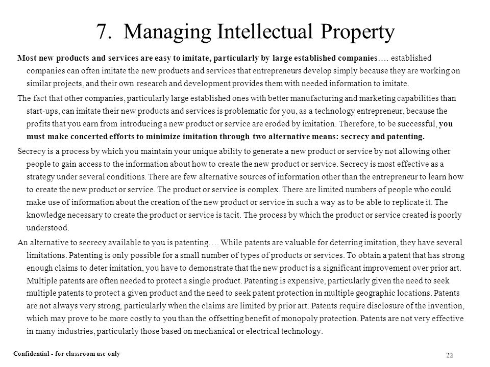 an overview of the two categories of intellectual property Intellectual-property law, the legal regulations governing an individual's or an   during the second half of the 20th century, however, the lines between these  fields became  to suppress consumer complaints, parody, and other forms of  free speech  you can make it easier for us to review and, hopefully, publish  your.