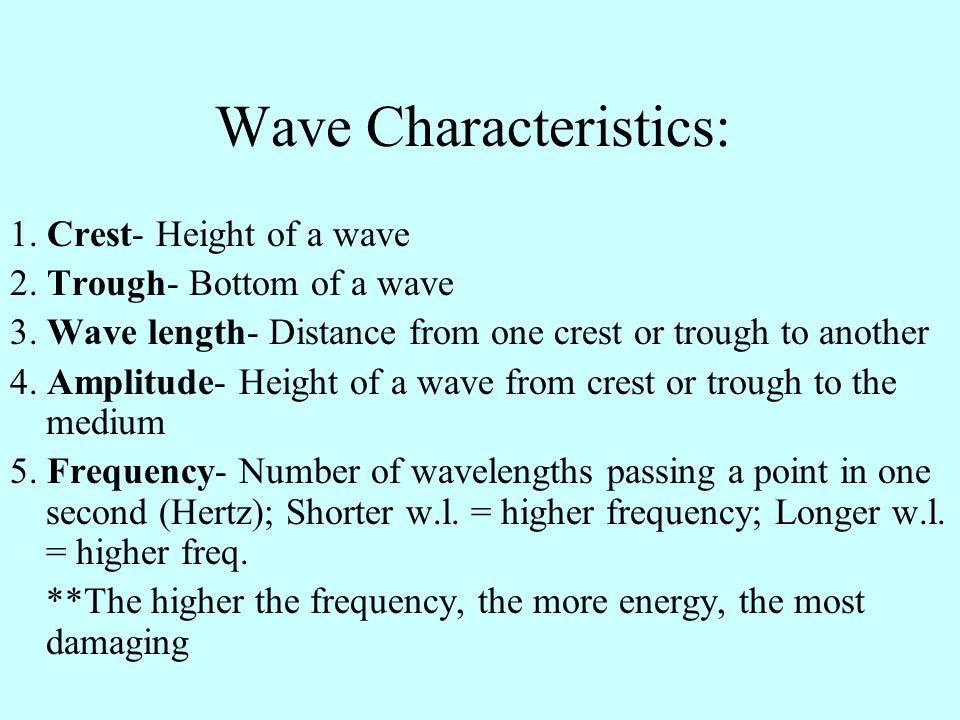 Wave Characteristics: