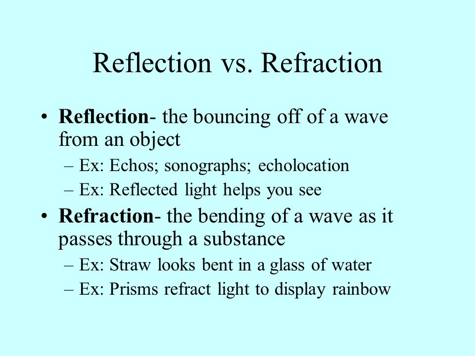 Reflection vs. Refraction