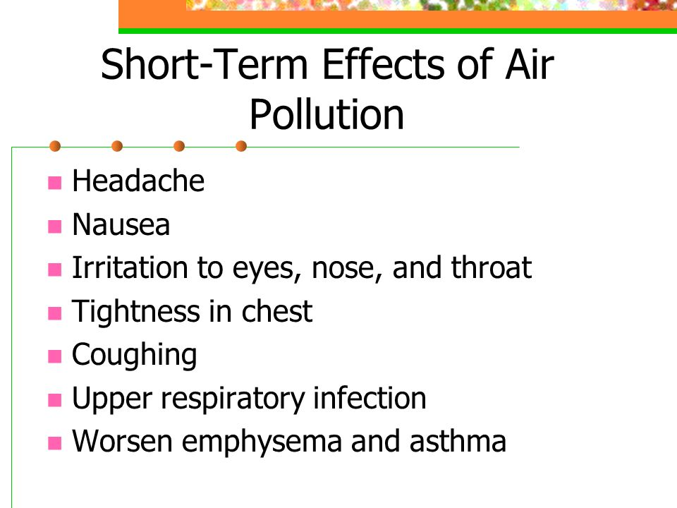 Short-Term Effects of Air Pollution