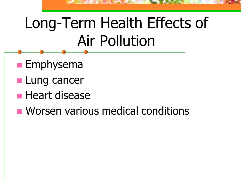 Long-Term Health Effects of Air Pollution