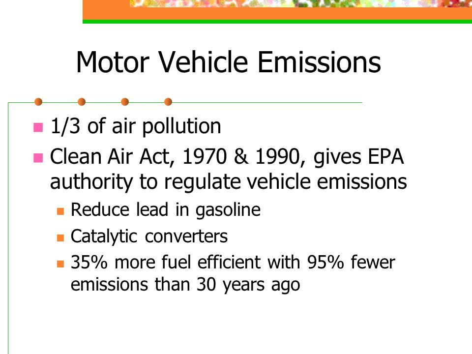 Motor Vehicle Emissions