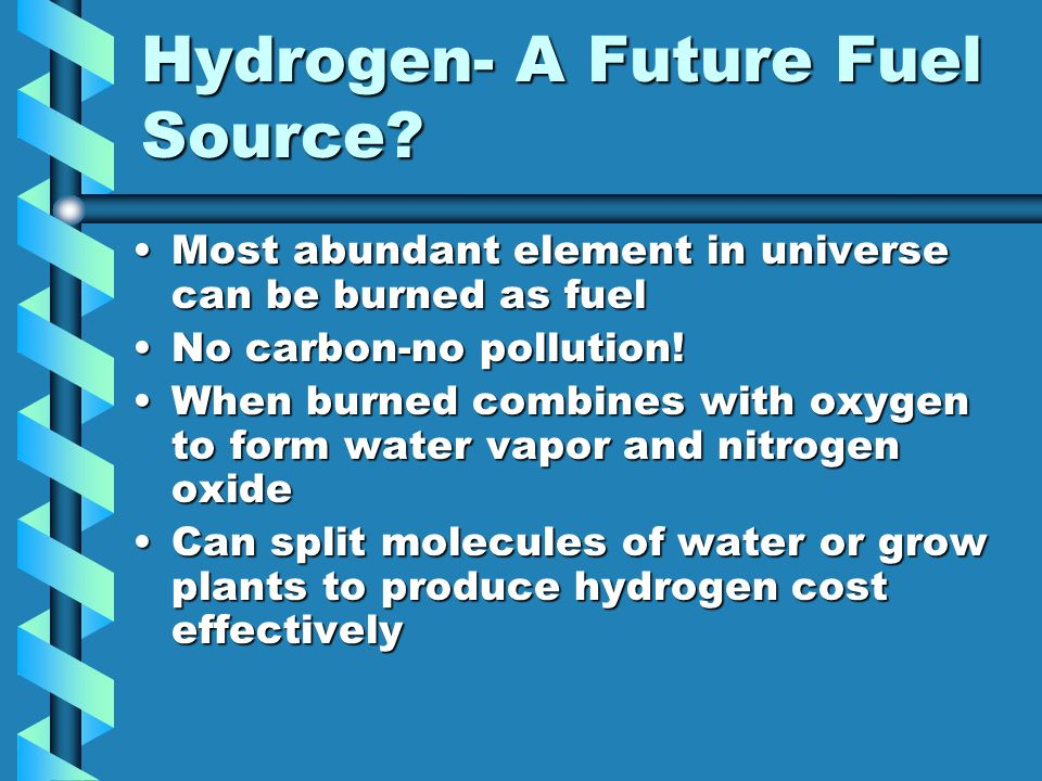 Hydrogen- A Future Fuel Source
