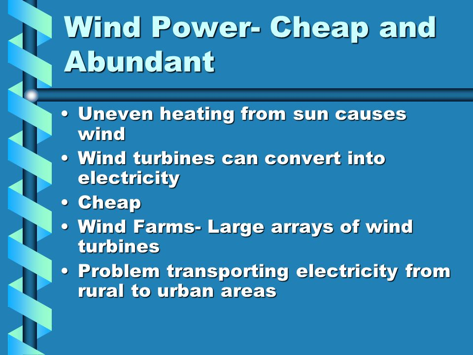 Wind Power- Cheap and Abundant