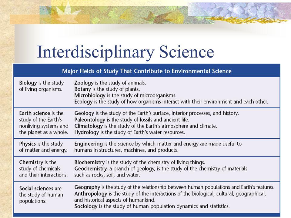 Interdisciplinary Science