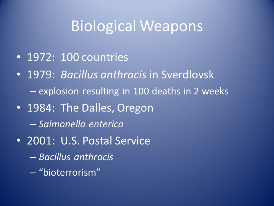 Biological Weapons 1972: 100 countries