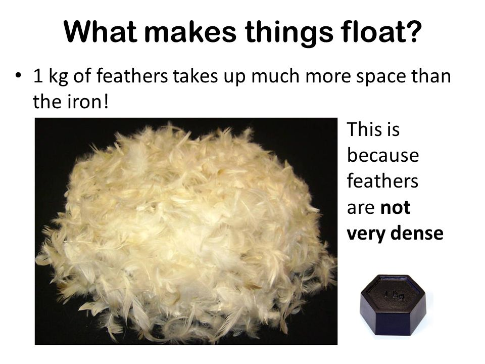 What makes things float