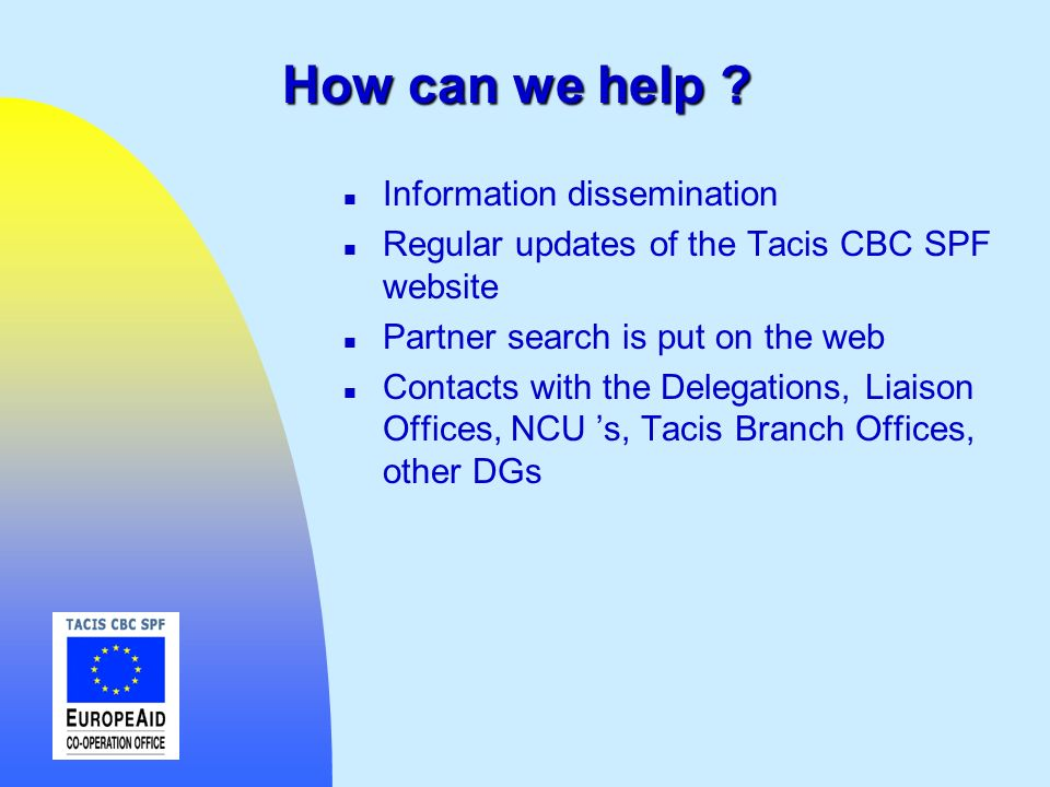 How can we help Information dissemination