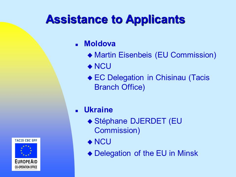 Assistance to Applicants