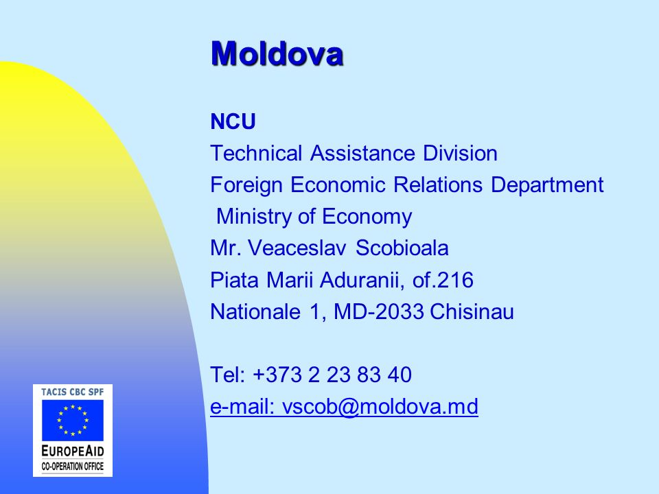 Moldova NCU Technical Assistance Division