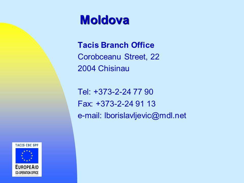 Moldova Tacis Branch Office Corobceanu Street, 22 2004 Chisinau