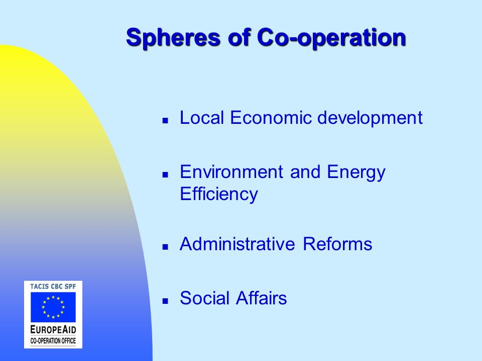 Spheres of Co-operation