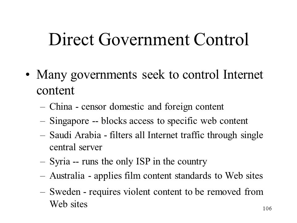 Direct Government Control