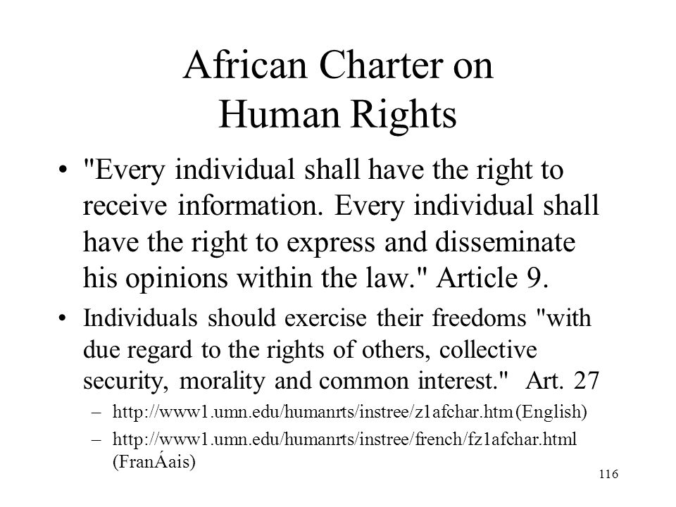 African Charter on Human Rights
