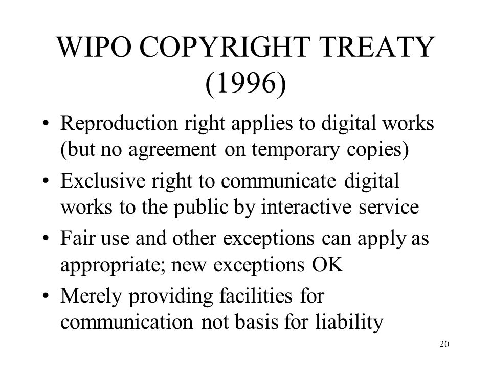 WIPO COPYRIGHT TREATY (1996)