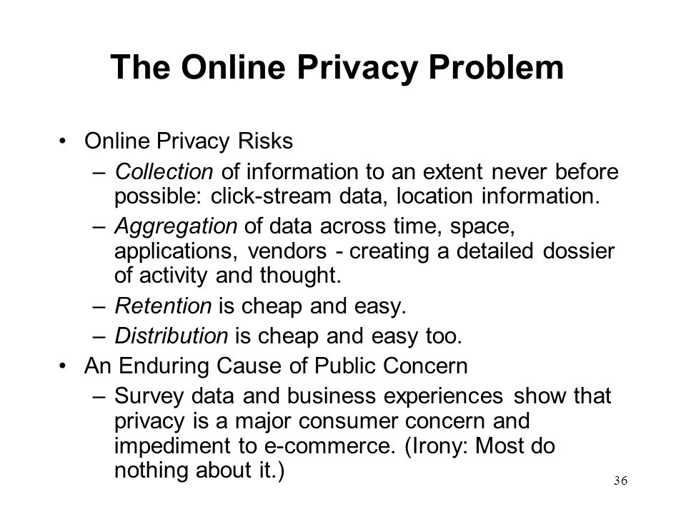 The Online Privacy Problem