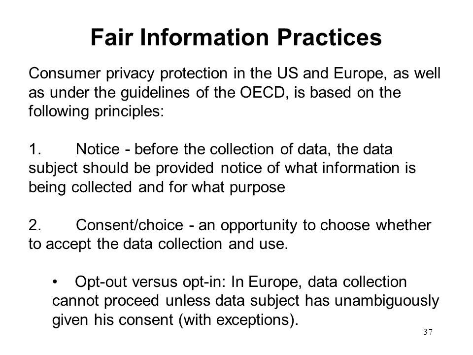 Fair Information Practices