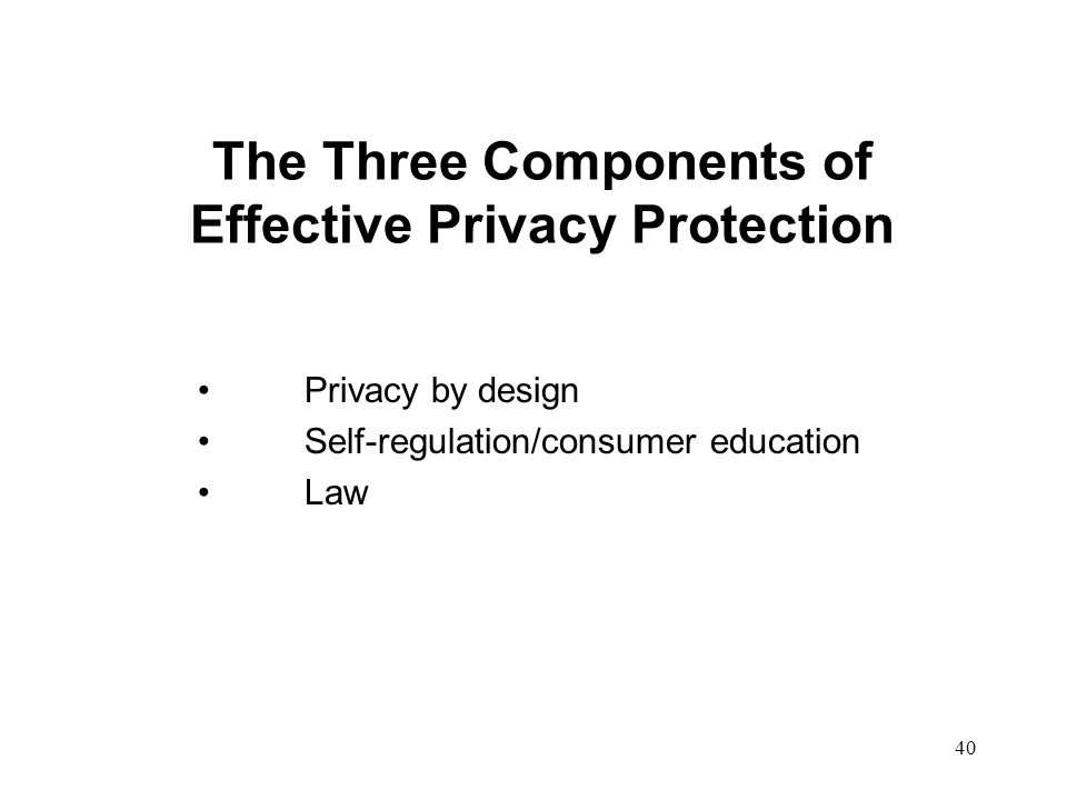 The Three Components of Effective Privacy Protection
